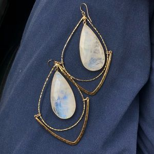 Gorgeous Moonstones Earrings. Brand New!